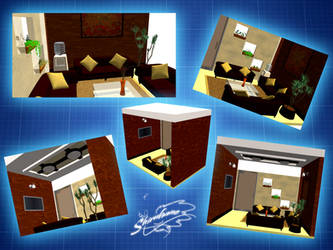 Office Waiting room - MMD stage DL by DiemDo-Shiruhane