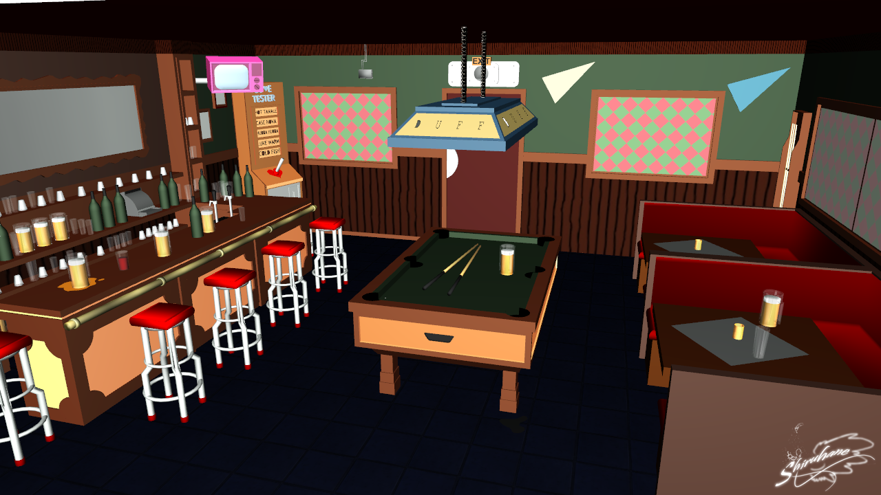 Moe's Tavern (The Simpsons) - MMD Stage DL by DiemDo-Shiruhane