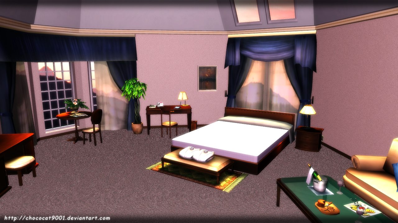 Bedroom Scenery - MMD stage DL by DiemDo-Shiruhane