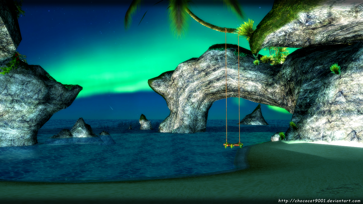 Grotto environment - MMD stage DL by chococat9001