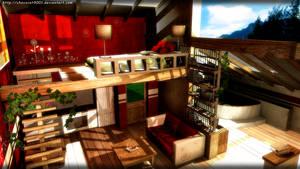 Modern Apartment - MMD stage DL