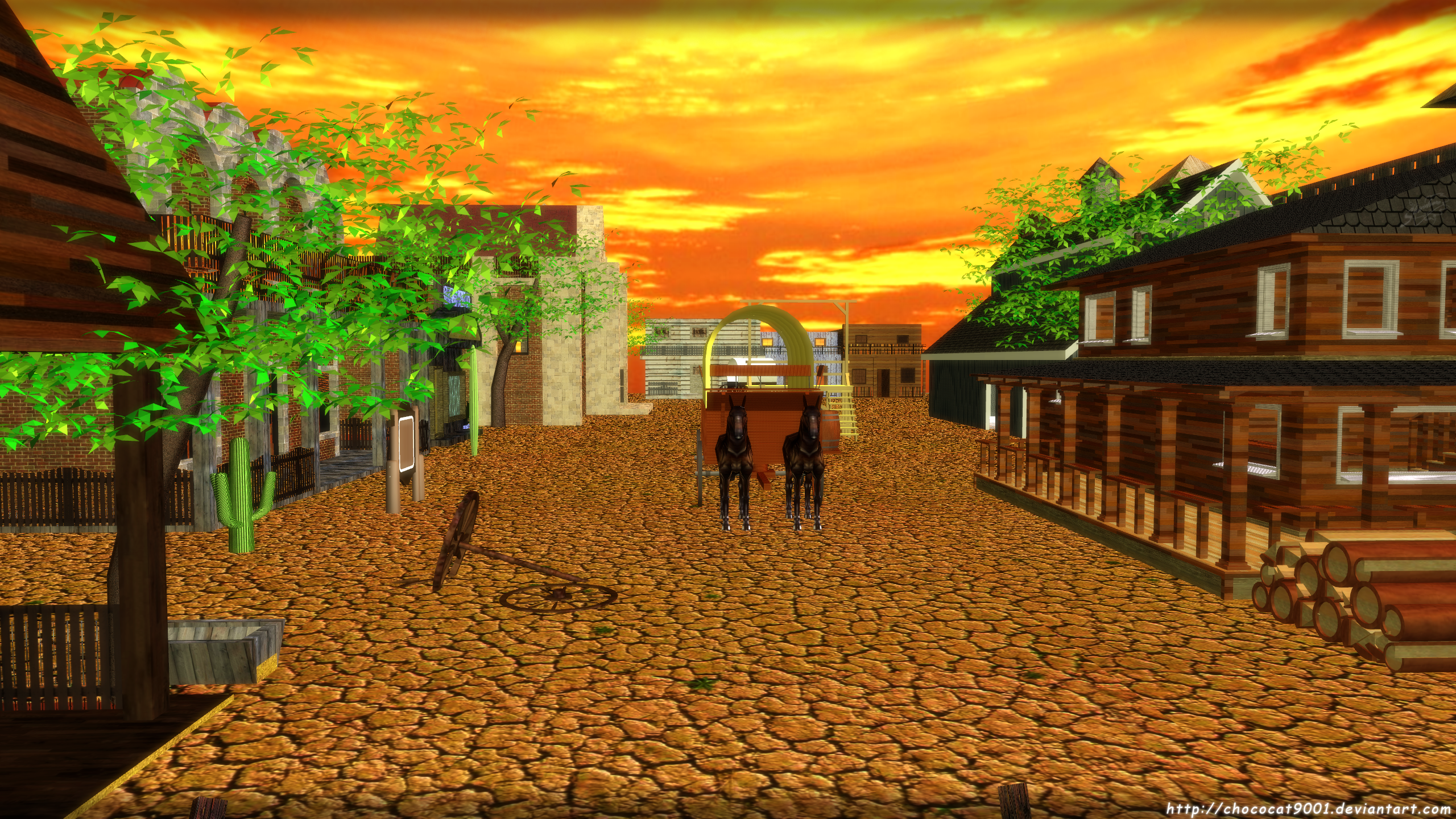 Old West - MMD stage DL by chococat9001