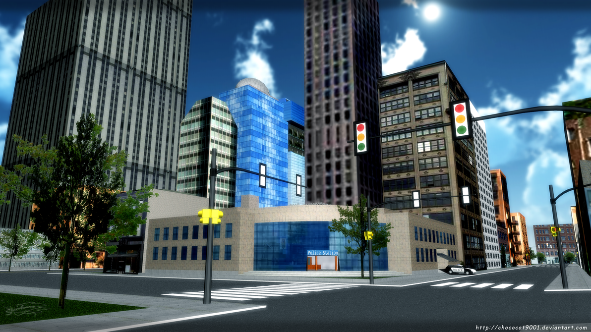 District Police Station - MMD Stage DL by chococat9001