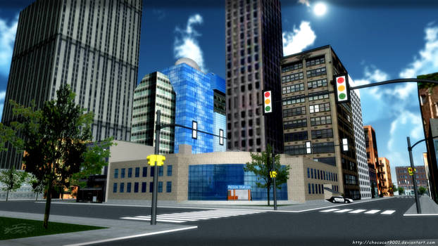 District Police Station - MMD Stage DL by DiemDo-Shiruhane
