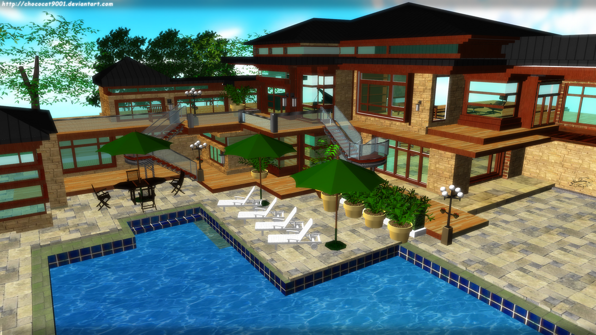 Really cool houses with pools - Awesome House 2 Mmd Stage Dl By Diemdo Shiruhane