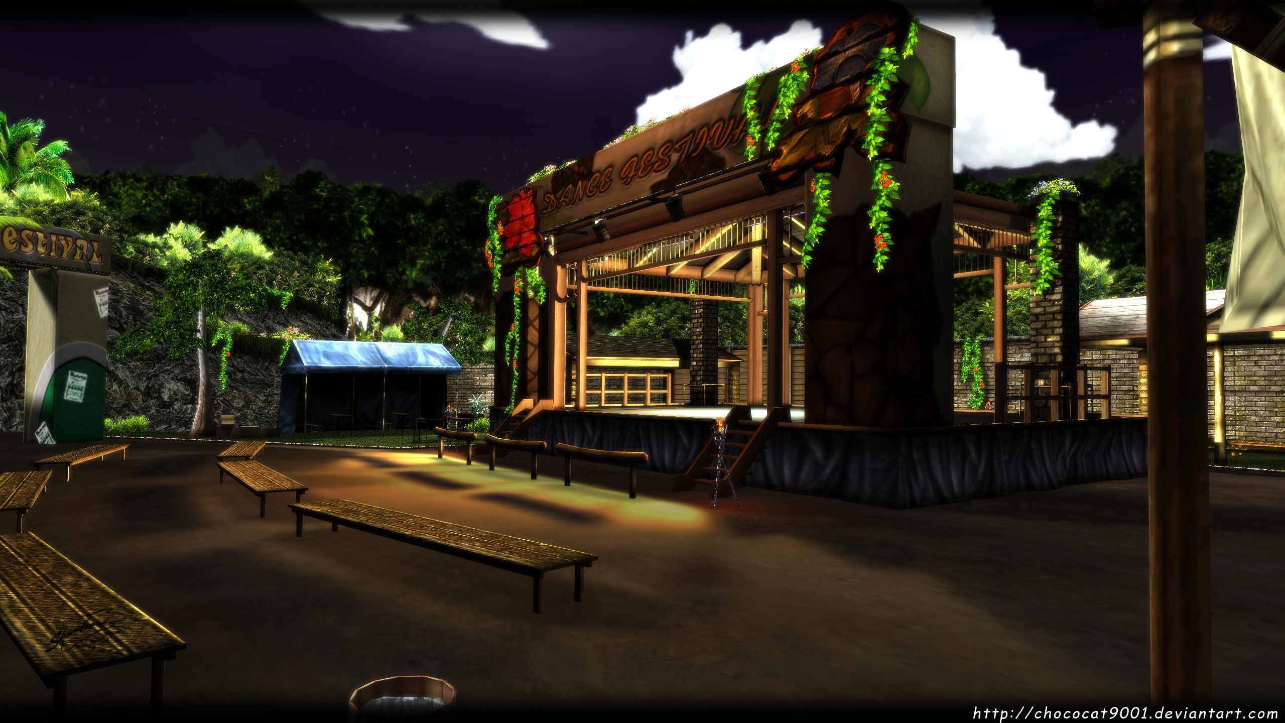 Dance Stage (SBZero) - MMD Stage DL by DiemDo-Shiruhane
