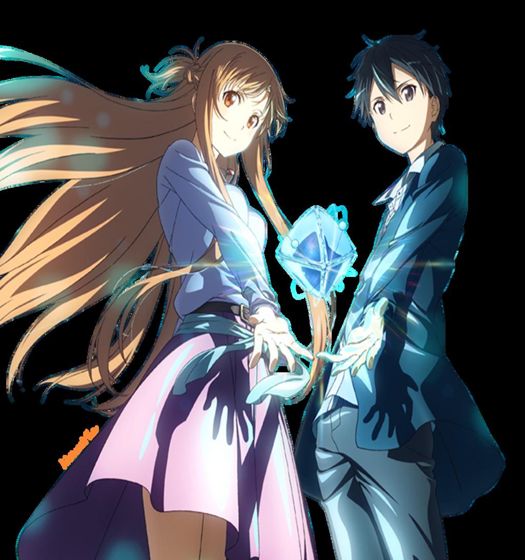 Asuna and Kirito (Render) by Namyle on DeviantArt Kirito And Asuna