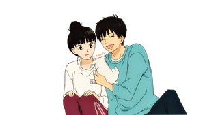 Sawako and Kazehaya (Render)
