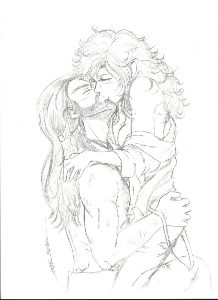 Fem Bilbo Thorin Kiss 001 by sayuri-hasekura
