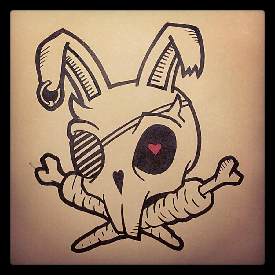 Skull bunny freakartdotlv skull bunny freakartdotlv jpg 900x900 bunny skull drawings