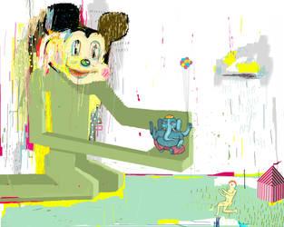 Mickey Sells Ganesh by Banantlers