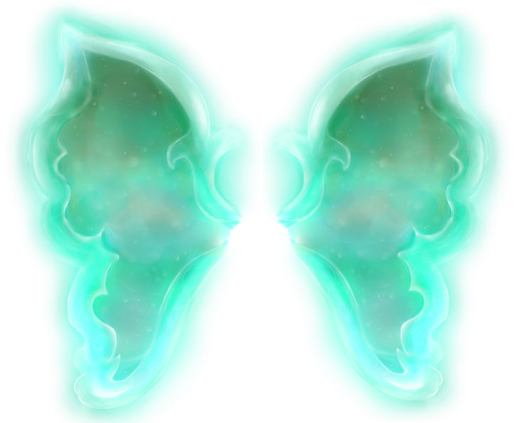 Turquoise Fairy Wings
