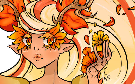 Goddess of the Fall Forest (close-up)