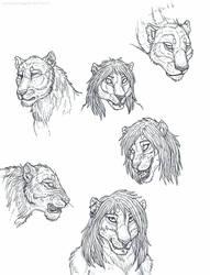 Sona head doodles by Steamonic