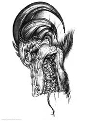 Hellhound Inked (2007 work) by Steamonic