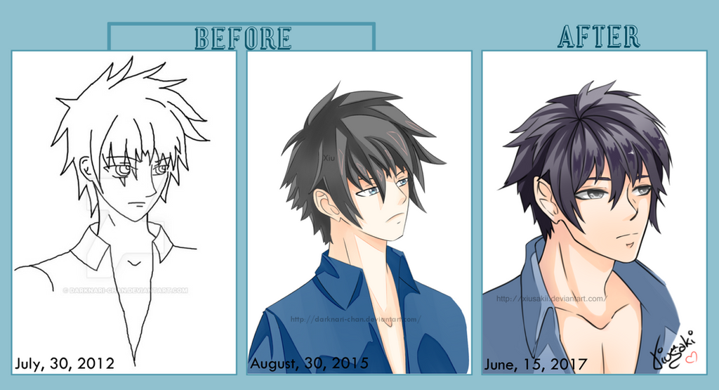 Before After Eiken by Xiusakii