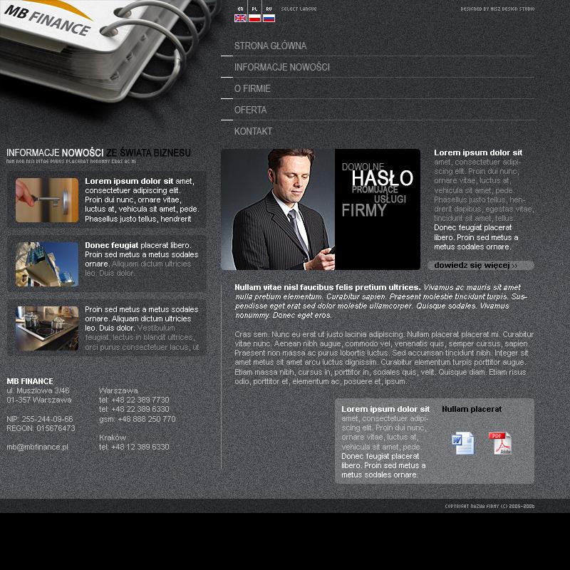 Finane site by misz000