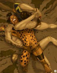 Mayan sacrifice hunt by neoknocker