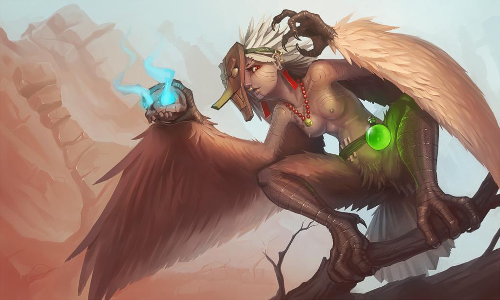 Shaman harpy by Cenaf