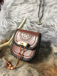 Leather Viking belt pouch