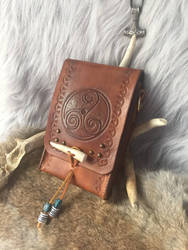 Leather Viking belt pouch  by TheGuildedPlane