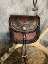 Handmade leather belt pouch  by TheGuildedPlane