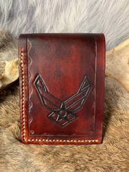 Handmade leather wallet  by TheGuildedPlane