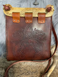 Handmade leather hedeby bag  by TheGuildedPlane