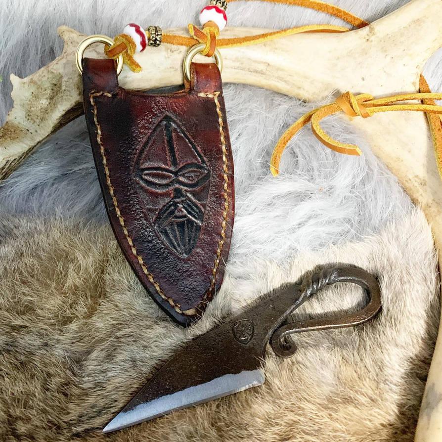 Handmade knife and sheath  by TheGuildedPlane