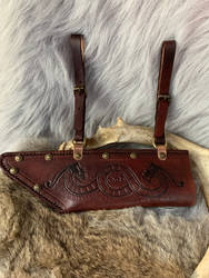 Leather seax sheath  by TheGuildedPlane