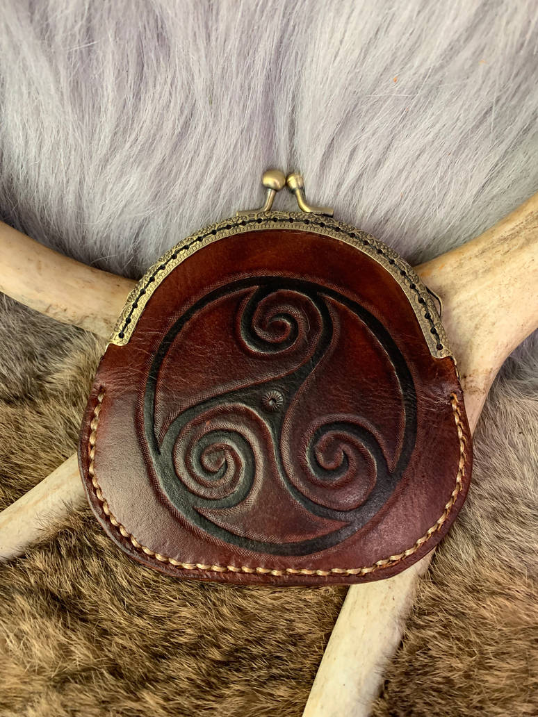 Leather coin purse  by TheGuildedPlane