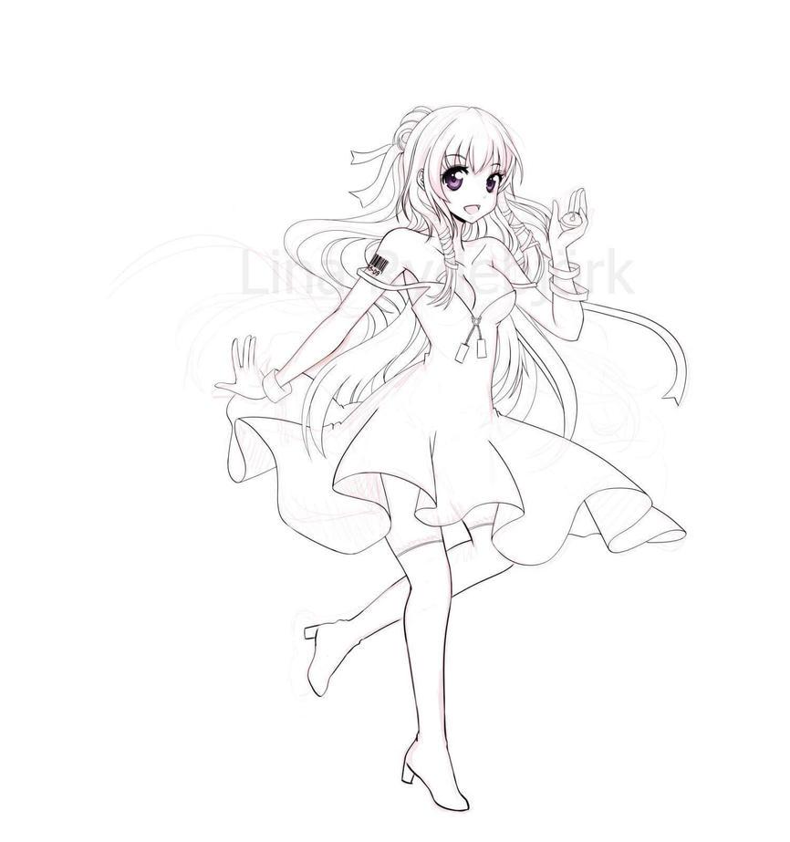 Naoki inking in progress by Lasaro