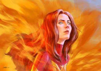 Dark Phoenix by Drawslave