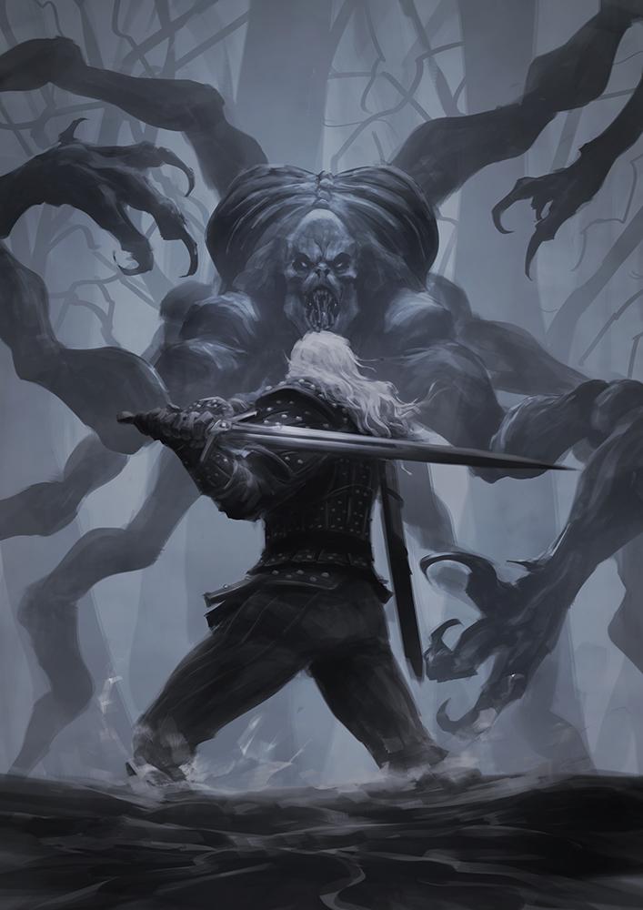 The Witcher VS Kikimora