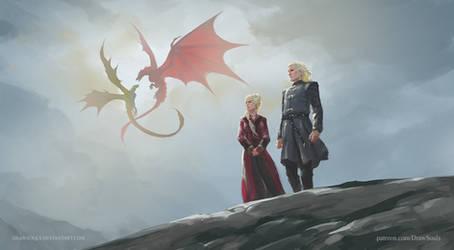 Daemon Targaryen and Rhaenyra Targaryen