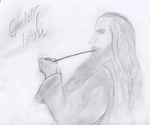 Gandalf smoking grass :D