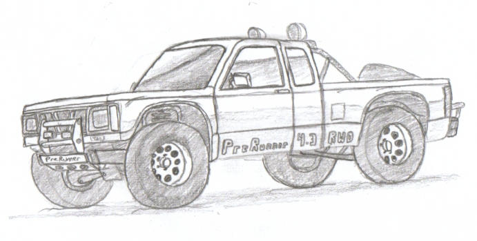 ford bronco 2 lineart