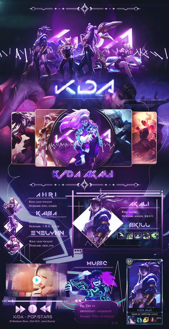 K/DA Akali by AmbroserC