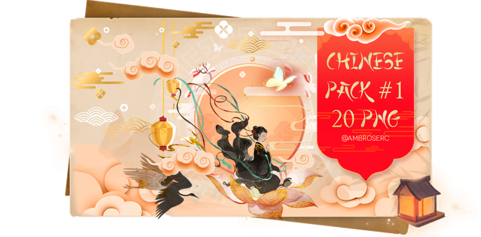 [PACK] 20 Png Chinese