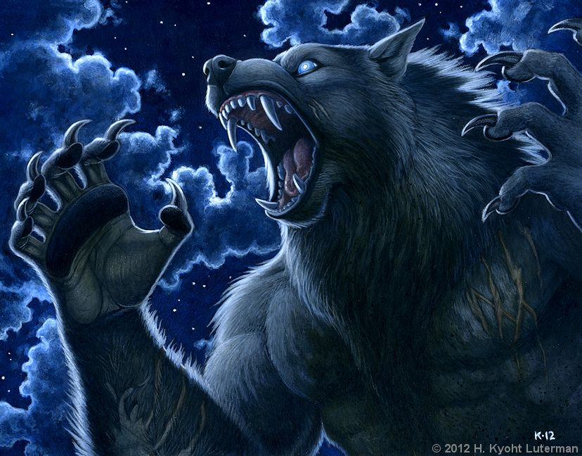 Werewolf Calendar 2013 - February by kyoht