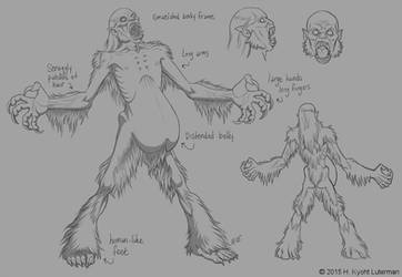 Wendigo Creature Design by kyoht