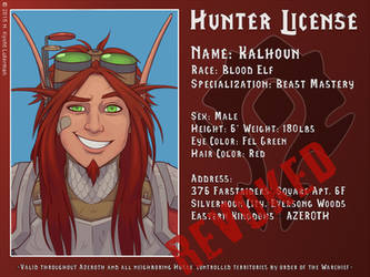 Kalhoun Hunter License by kyoht