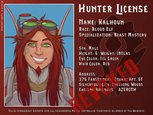 Kalhoun Hunter License