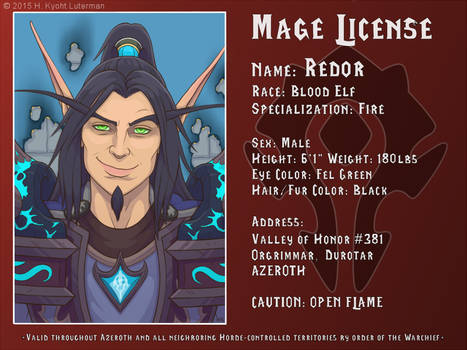 Redor Mage License