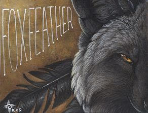 Foxfeather Conbadge by kyoht
