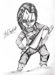 Chucky and the tall kitchen knife 2 by Laquyn
