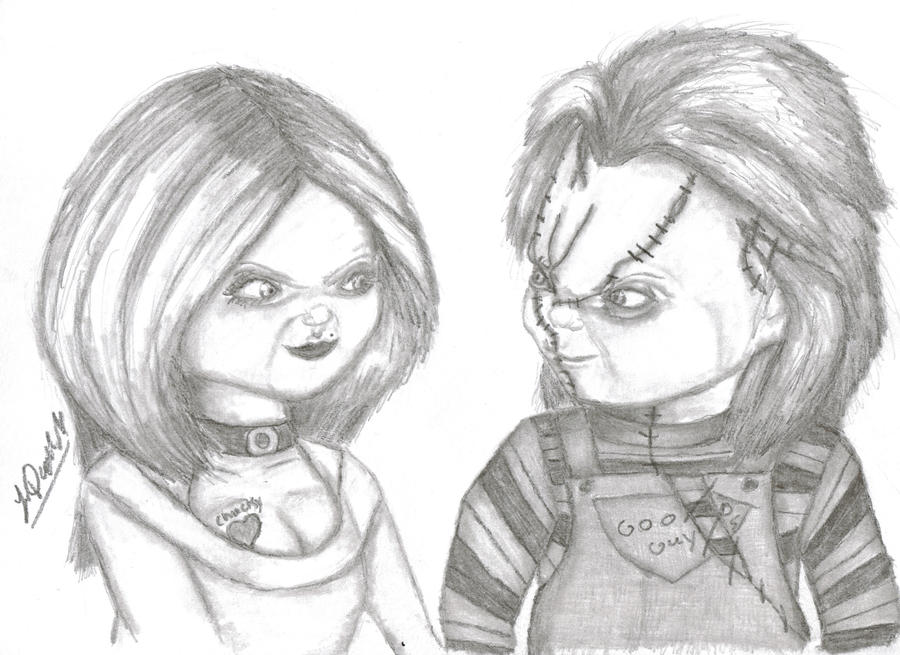 Printable Chucky And Tiffany Coloring Pages Chucky And Tiffany By Humanpincushion On Deviantart