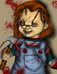 Chucky's bloody blows