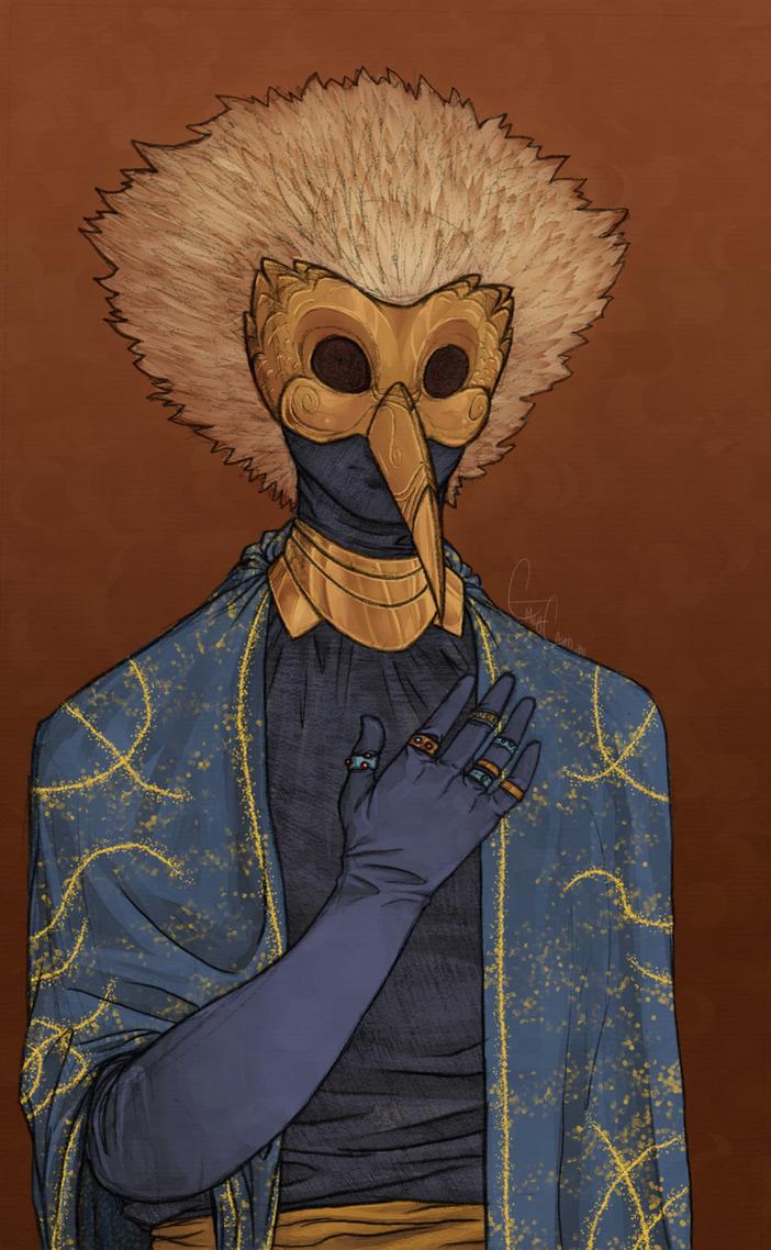 Masked Man by nekokyuuketsuki