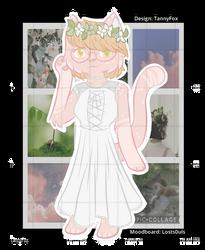 (OPEN) White Gown Kitty - OTA by TannyAdopts